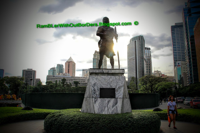 Sultan Kudarat, statue, Ayala Triangle Park, Makati, Manila, Philippines
