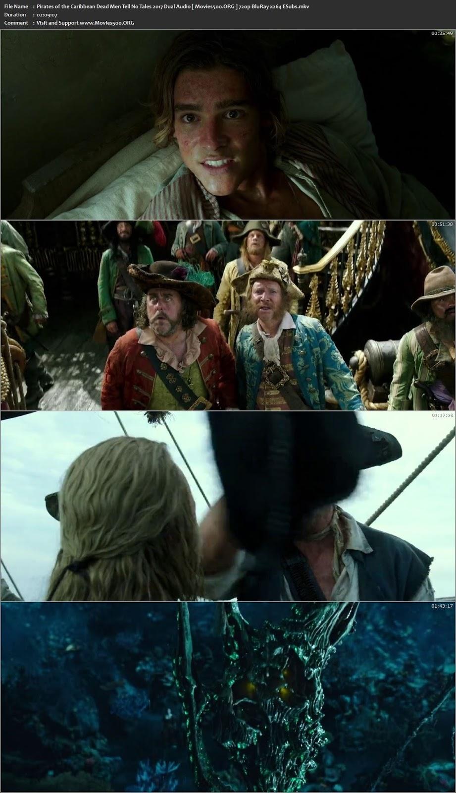 Pirates of the Caribbean Dead Men Tell No Tales 2017 Dual Audio Hindi 720p BluRay ESubs at movies500.org