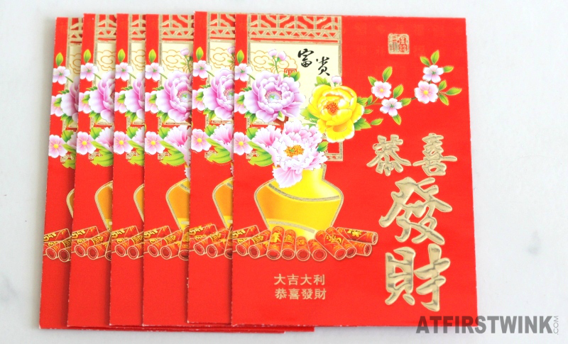 Red envelops Chinese New Year good luck and weath