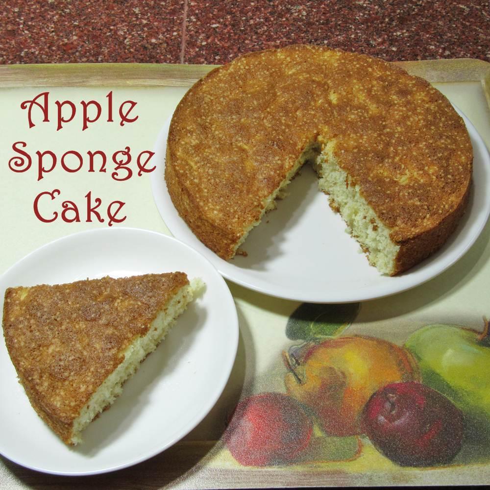 how to make an apple sponge cake