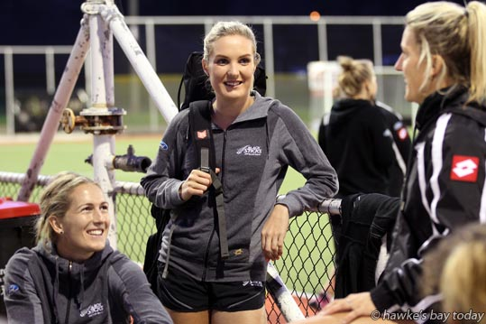 Centre: Sophie Cocks, No 17, Black Sticks, New Zealand hockey team, pictured after training at Park Island, Napier, competing in the Festival of Hockey at Hawke's Bay Regional Sports Park, Hastings. photograph