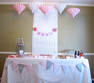 pink and grey girl baby shower ideas