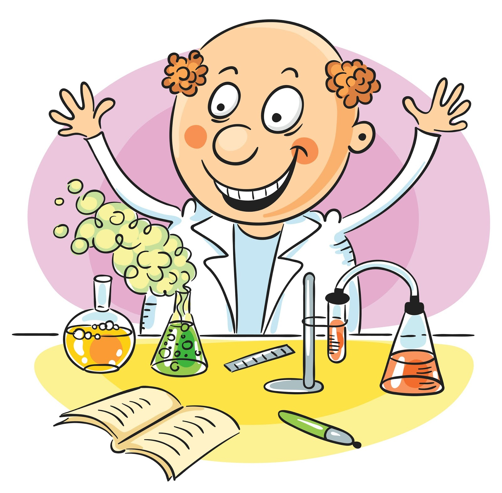 experiment scientist science happy cartoon chemistry successful students vector animal motivating illustration doctor student lab royalty chemist chemical project professor