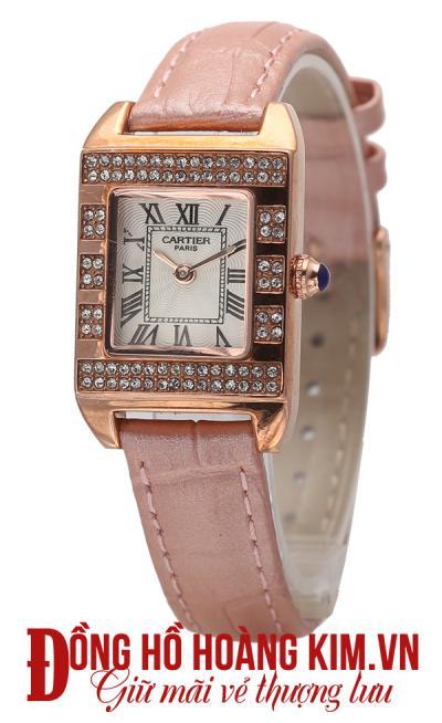 đồng hồ nữ dây da cartier cao cấp