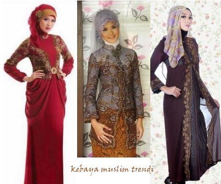 Contoh model baju kebaya muslim terbaru