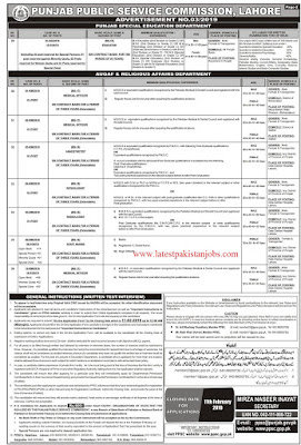 Latest Pakistan Punjab Public Service Commission Jobs Ad 2