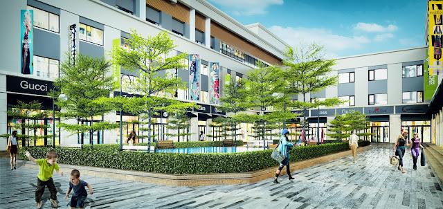 Không gian xanh xen kẽ những gian Shophouse