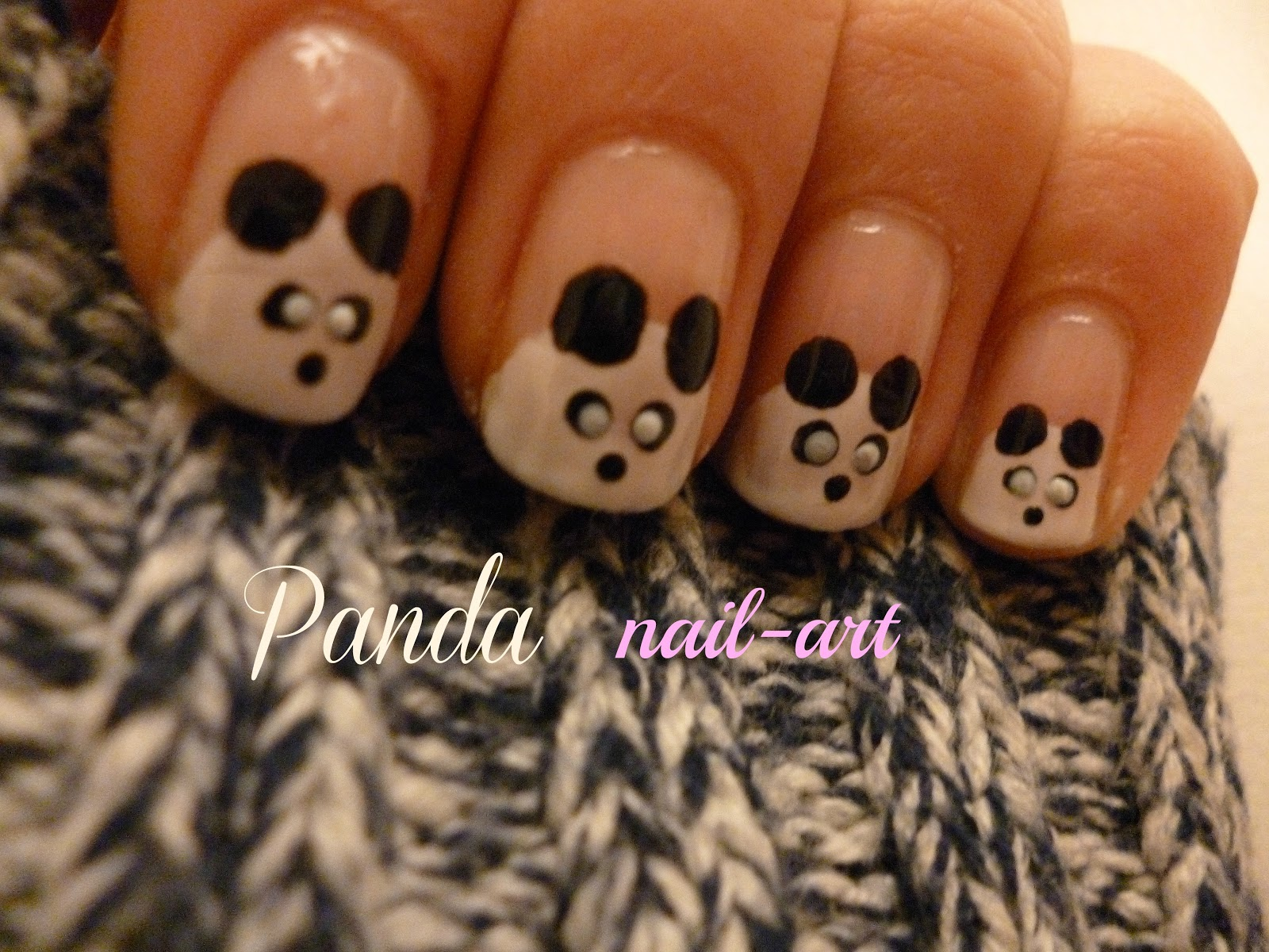 Nieuw Nail art by Sabine: Nail-art voor beginners: Panda nagels! WS-26