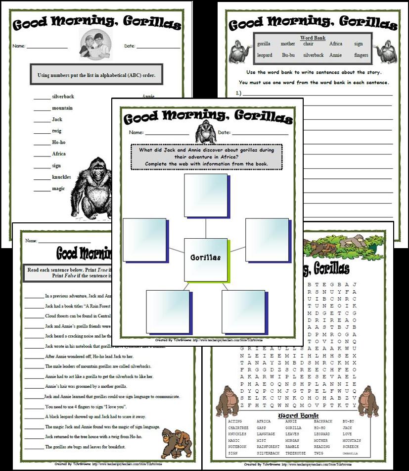 Free Magic Tree House Novel Study - Classroom Freebies