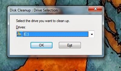 Run Disk clean up