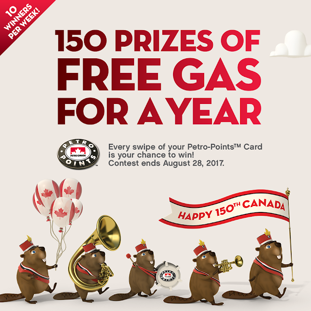 150 Prizes Of Free Gas For a Year!
