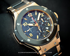 Hublot BigBang Rosegold & Ceramic on Bracelet