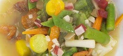 menestra de verduras jamon y setas