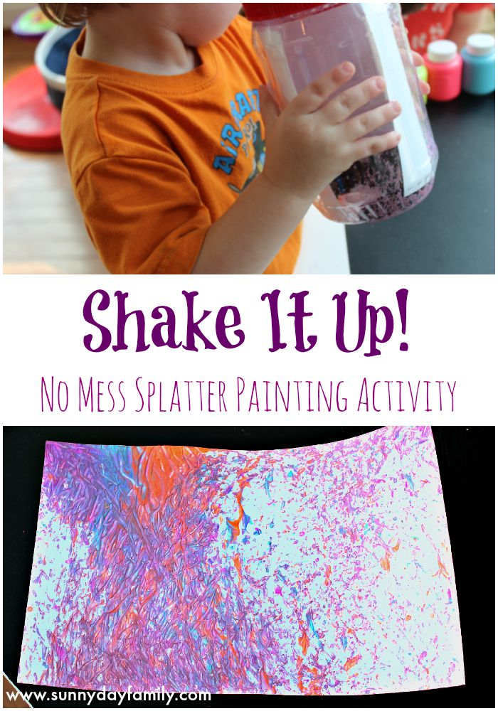 Shake It Up: no mess painting for kids! An easy, fun art project toddlers & preschoolers will love