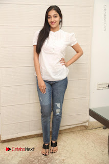 Tollywood Telugu Actress Mouryaani Latest Stills in Ripped Jeans at Intlo Deyyam Nakem Bhayam Movie Interview  0078.JPG