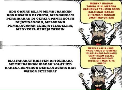 Semua Tindakan Intoleran Harus Diberangus dan Ditindak Tegas, Apapun Agamanya!