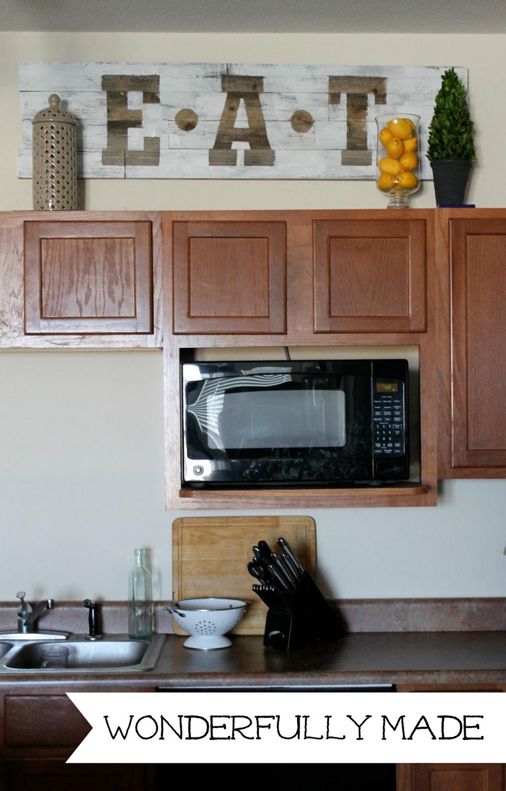 Wonderfully Made Diy Kitchen Eat Sign