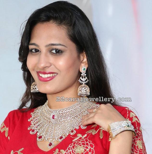 Swetha Jadhav Grand Choker Long Jhumkas