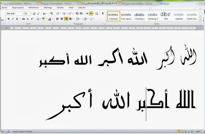 Font Huruf Arab Kaligrafi Cikimm Com