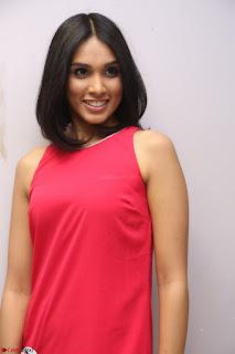 Spatika Surapaneni in Red Tight Dress at FBB Miss India 2017 finalists at Telangana auditions Feb 2017 (33).JPG