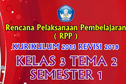 Perangkat RPP Kelas 3 Tema 2 Semester 1 K13 Revisi 2018