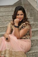 Shilpa Chakravarthy in Lovely Designer Pink Saree with Cat Print Pallu 052.JPG