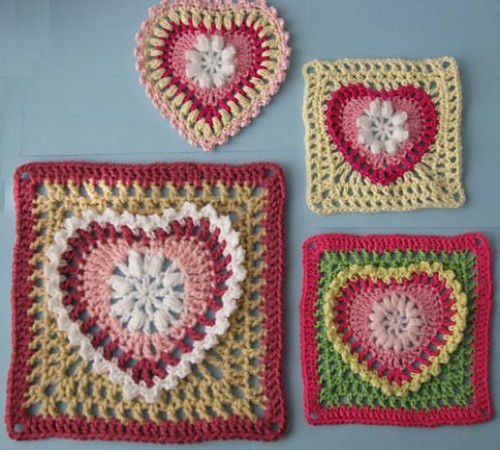 Grandma's Heart Square - Free Pattern