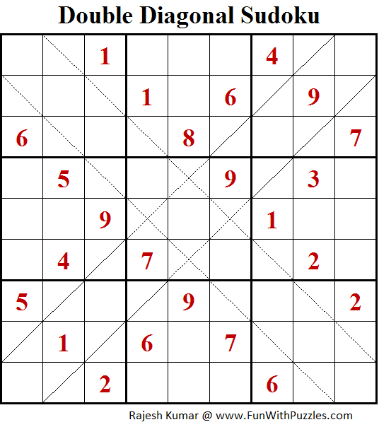 Double Diagonal Sudoku (Fun With Sudoku #184)
