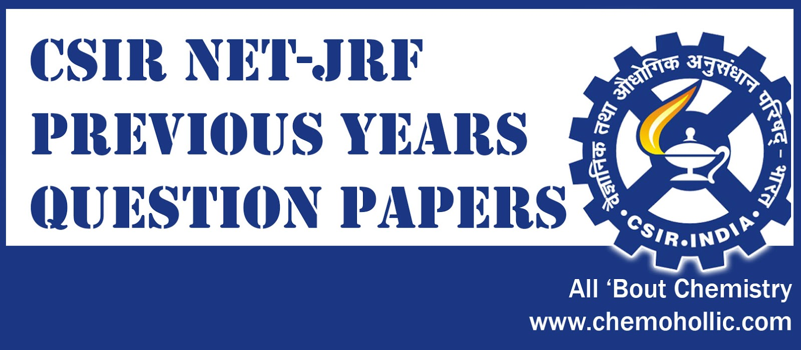 CSIR NET-JRF Previous Years Question Papers with Answer Key - All ...
