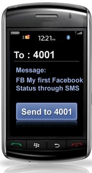 FB My first Facebook Status through SMS - Sparrow SMS
