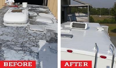 Rubber camper roof repair