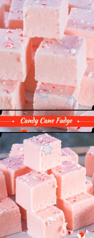 Candy Cane Fudge #christmas #dessert