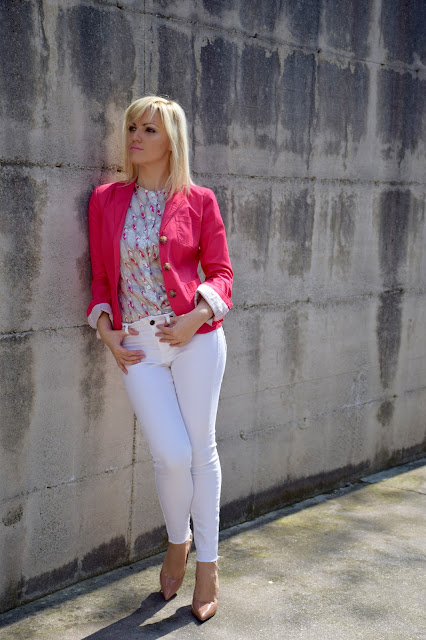 come abbinare il fucsia outfit blazer fucsia outfit fucsia come abbinare il fucsia abbinamenti fucsia fucsia blazer how to wear fucsia mariafelicia magno color block by felym fashion blogger italiane outfit aprile 2017 outfit primaverile