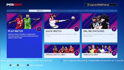 PES 2017 FIFA 18 Style Theme by Ginda01