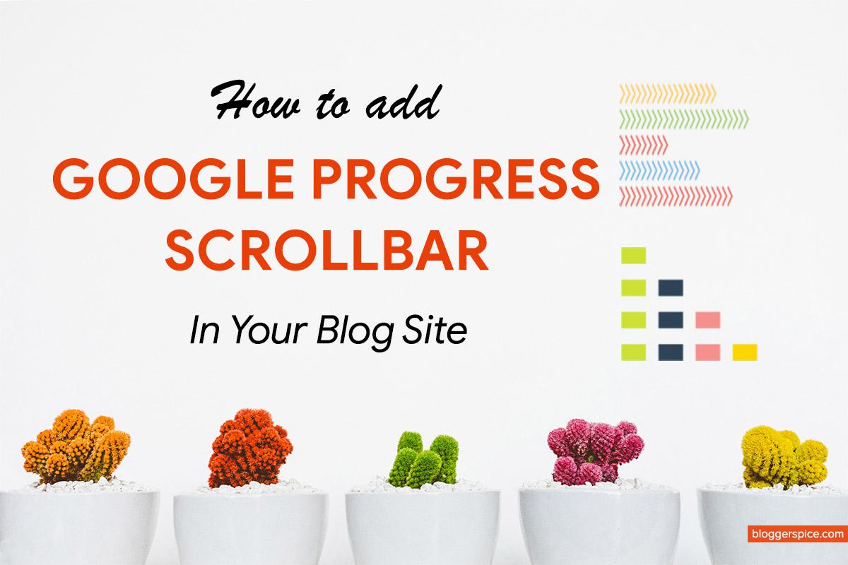 new scrollbar for Google Blogger BlogSpot