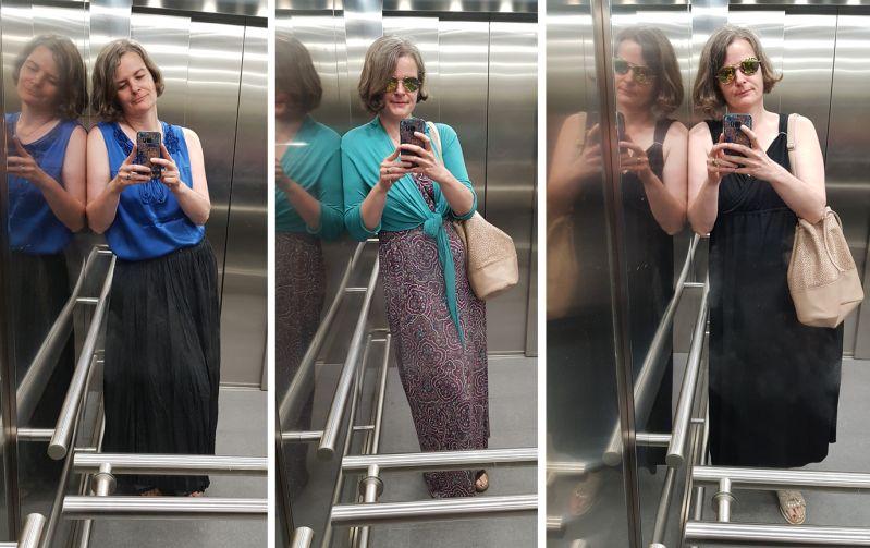 Büro Kombinationen im August Maxikleider und -röcke
