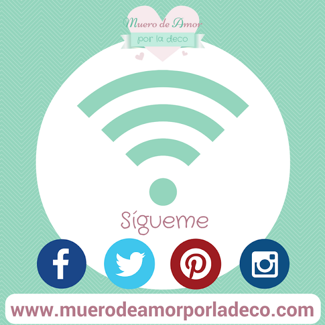 Redes Sociales del Blog de decoración: Muero de Amor por la Deco