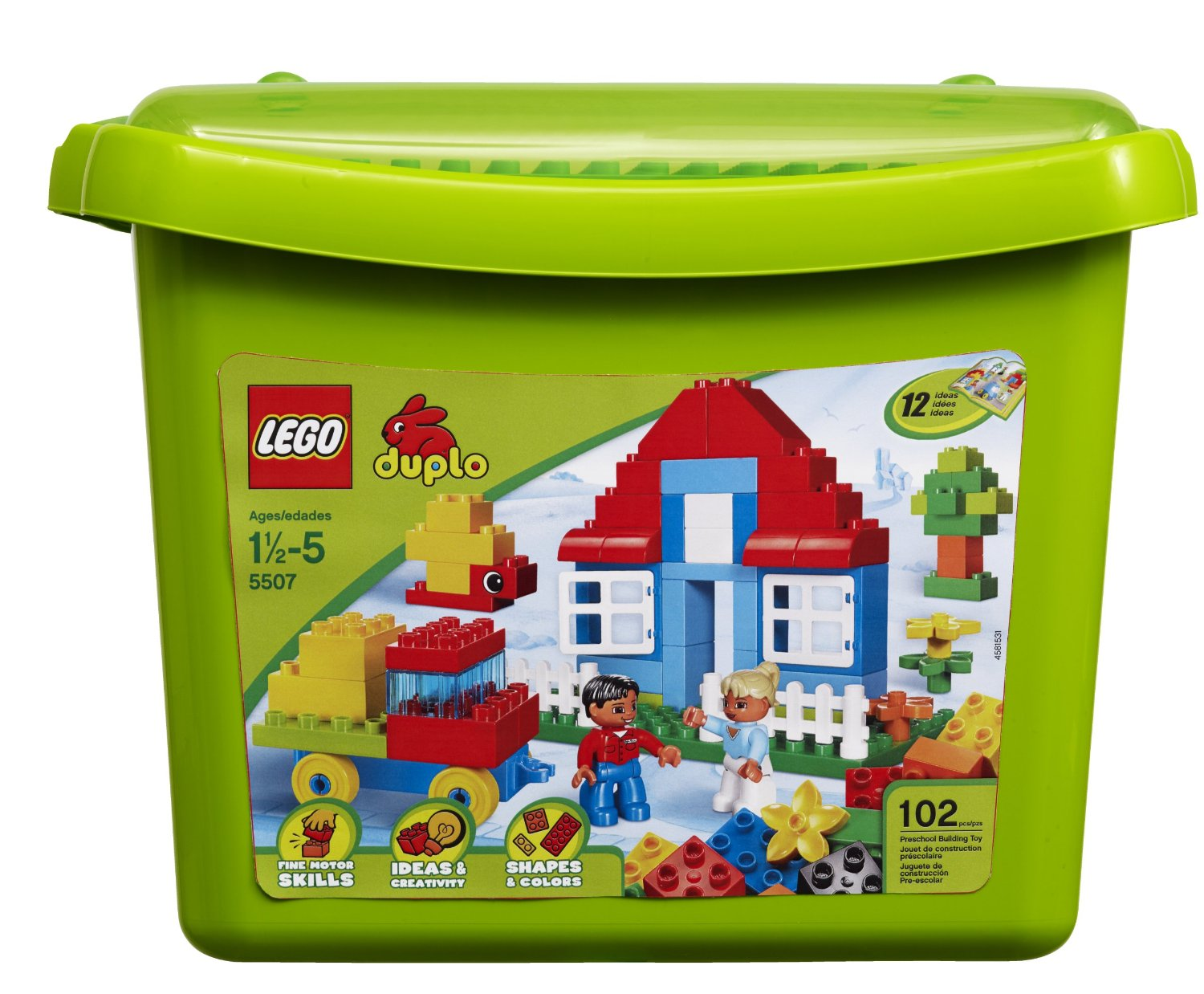 LEGO DUPLO Bricks & More Deluxe Brick Box 5507: LEGO DUPLO ...