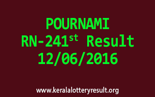 POURNAMI Lottery RN 241 Results 12-6-2016