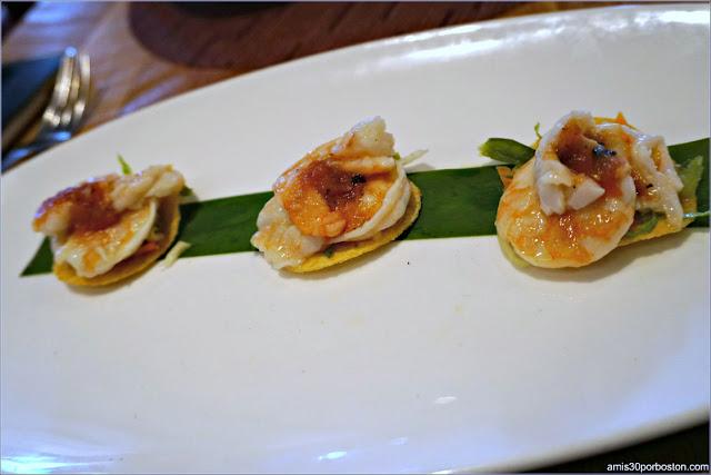 Tostada de Camarones del Restaurante Rosa Mexicano