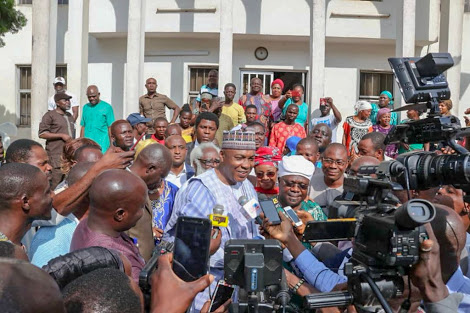 More Photos Of Saraki & Omisore After Their Meeting Today