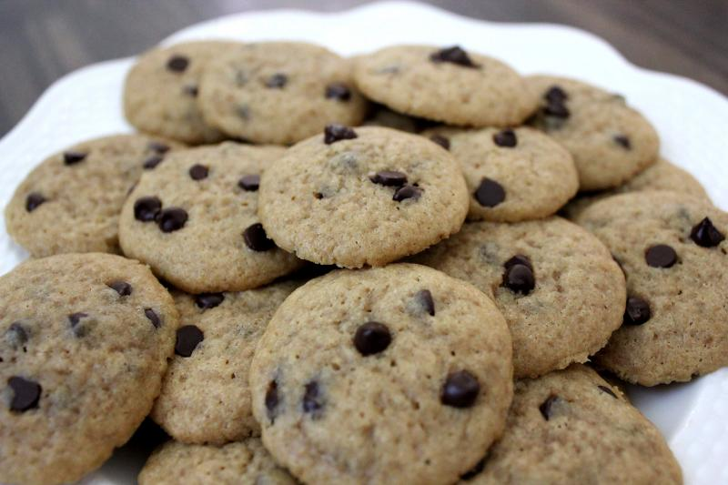 Mini Chocolate Chip Cookies Fresh From The