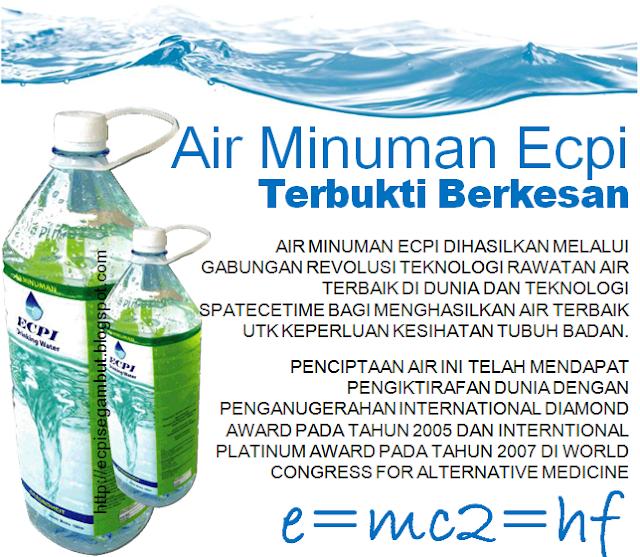 Kehebatan Air ECPI dan rawatan alternative kencing manis