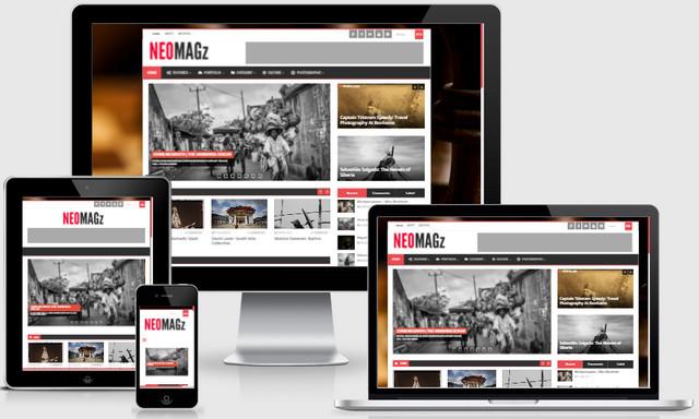 NEOMAGz Magazine Responsive Blogger Templates