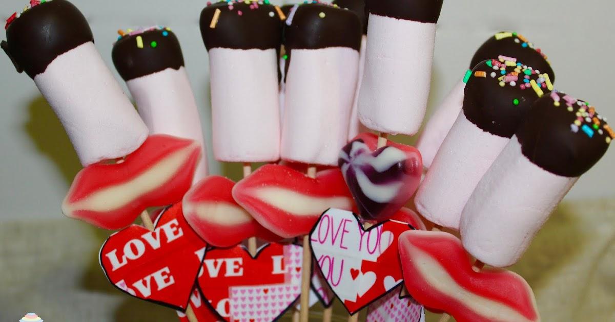 San Valentín: Brochetas de chucherías