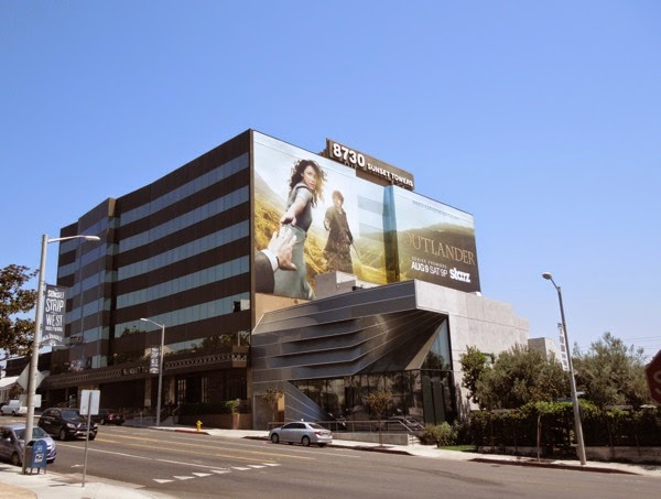 Giant Outlander season 1 billboard Sunset Strip