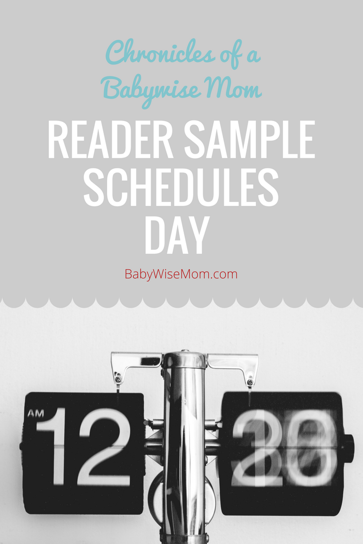 Reader Sample Schedules Day 2017