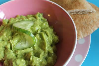 a bowl of guacziki dip