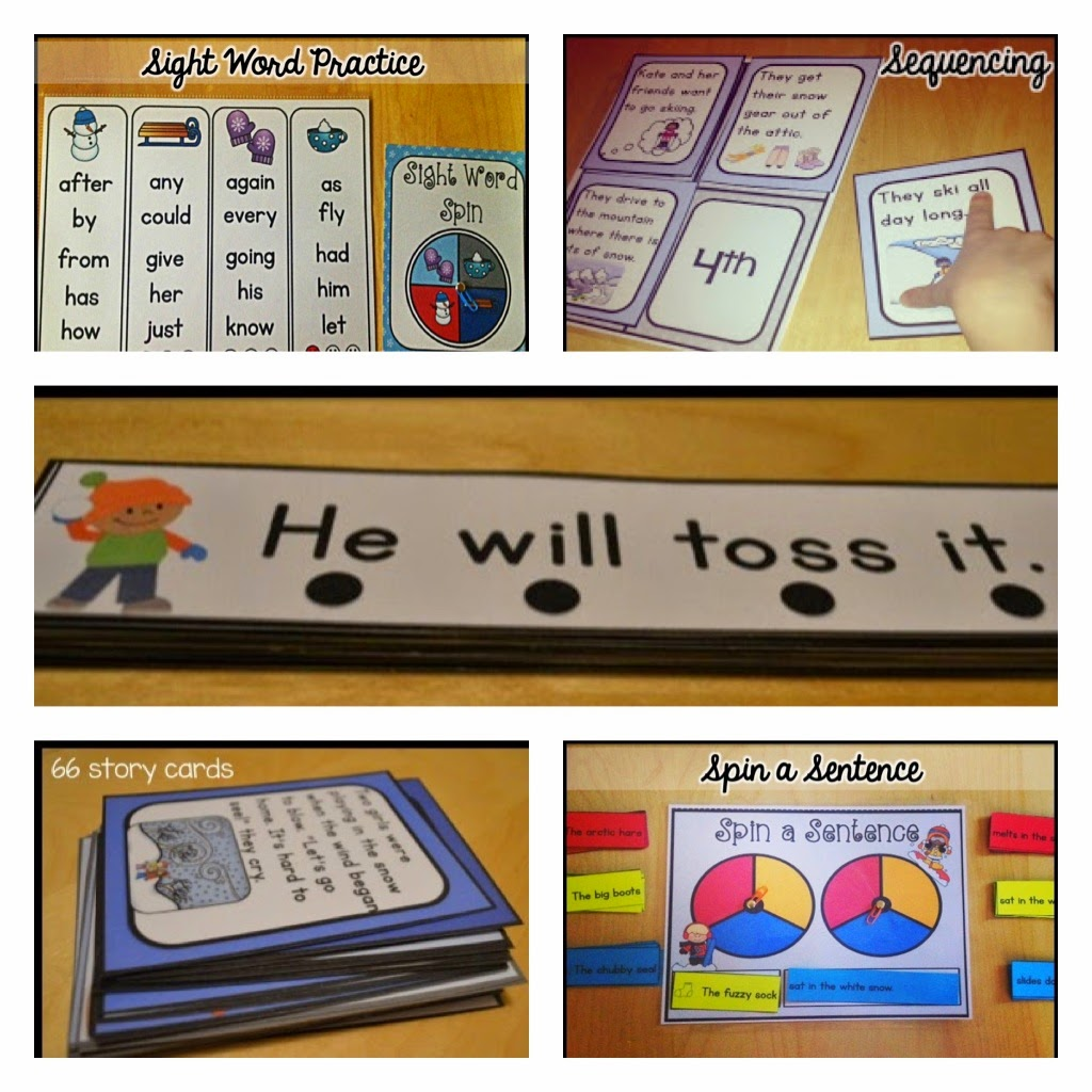 Sarah S First Grade Snippets Guided Reading Activities For Winter