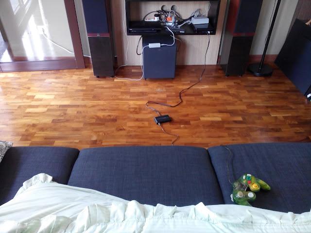 Proyek pemasangan lantai kayu parket di rumah bapak Rudi - BSD